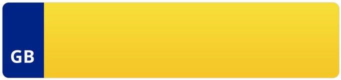 Αριθμός Vehivle βρετανικών αυτοκινήτων/πινακίδα αριθμού κυκλοφορίας Στοκ Φωτογραφία