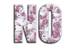 Αριθ. Η επιγραφή έχει μια σύσταση της φωτογραφίας, η οποία απεικονίζει πολλούς 500 ευρο- λογαριασμούς χρημάτων στοκ φωτογραφίες