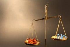 αριθ. ναι Στοκ φωτογραφία με δικαίωμα ελεύθερης χρήσης