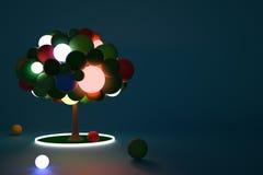 Αριστερή πλευρά Luminant δέντρων παιχνιδιών Στοκ εικόνες με δικαίωμα ελεύθερης χρήσης
