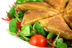αριστερό λευκό samosas στοκ εικόνα με δικαίωμα ελεύθερης χρήσης