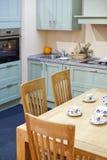 Αριστοκρατική εσωτερική λεπτομέρεια κουζινών Στοκ Εικόνα