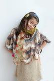 Αριστοκρατικό καυκάσιο γέλιο νέων κοριτσιών Στοκ Φωτογραφίες