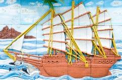 Αριστούργημα της παραδοσιακής ταϊλανδικής τέχνης στόκων ύφους παλαιάς Στοκ φωτογραφίες με δικαίωμα ελεύθερης χρήσης