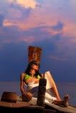 Αρκετά ασιατικό μοντέλο στην παραλία Στοκ φωτογραφία με δικαίωμα ελεύθερης χρήσης