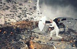 Αρκετά ισχυρός να το προκαλέσει Μικτά μέσα Στοκ Φωτογραφίες