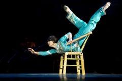 Αρκετά κινεζικό εθνικό χορεύοντας κορίτσι Στοκ φωτογραφία με δικαίωμα ελεύθερης χρήσης
