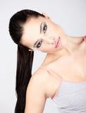 Αρκετά νέα γυναίκα brunette Στοκ Εικόνα