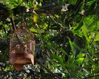 Αρκετά ξύλινο Birdcage Στοκ εικόνα με δικαίωμα ελεύθερης χρήσης
