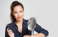 Αρκετά στο απλό makeup στοκ εικόνα