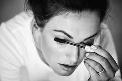 Αρκετά χαριτωμένο κορίτσι με mascara Στοκ Φωτογραφίες