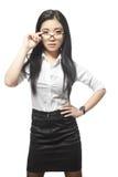 Αρκετά όμορφη προκλητική ασιατική επιχειρηματίας Στοκ φωτογραφίες με δικαίωμα ελεύθερης χρήσης