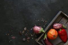 Αρκετοί ζέβρα μελιτζάνα στο σκοτεινό υπόβαθρο πλακών Στοκ Εικόνες