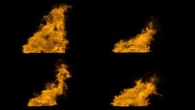 Αρκετοί καπνίζουν τις πηγές κίτρινου χρώματος, με την άλφα μάσκα καναλιών διανυσματική απεικόνιση