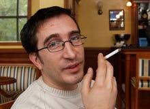 αρκετός καπνιστής προσώπ&omicr Στοκ Εικόνες