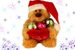 Αρκούδα-bear-cub Χριστουγέννων Στοκ Φωτογραφία