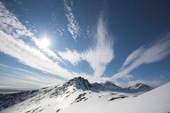 αρκτικά βουνά τοπίων Στοκ εικόνα με δικαίωμα ελεύθερης χρήσης