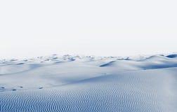 αρκτική έρημος χειμερινό τοπίο με τις κλίσεις χιονιού Στοκ Εικόνα