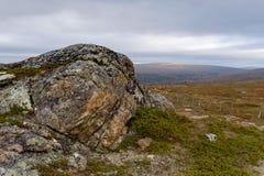 Αρκτική ημέρα φθινοπώρου στο φινλανδικό Lapland Στοκ Εικόνες