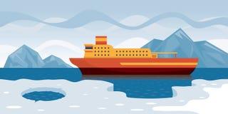 Αρκτική κρουαζιέρα Διανυσματική απεικόνιση