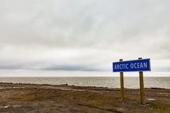 Αρκτική ωκεάνια θάλασσα Tuktoyaktuk NWT Καναδάς Beaufort στοκ εικόνες με δικαίωμα ελεύθερης χρήσης