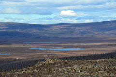 Αρκτικός κύκλος του βουνού 5 δάχτυλων της Αλάσκας στοκ φωτογραφίες με δικαίωμα ελεύθερης χρήσης