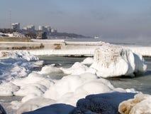 αρκτικός παγετώνας misty Στοκ Εικόνες