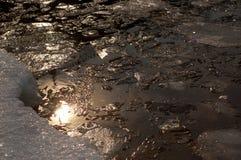 αρκτικός ωκεάνιος ήλιος αντανάκλασης Στοκ εικόνα με δικαίωμα ελεύθερης χρήσης
