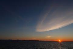 αρκτικό κρύο ηλιοβασίλε&m Στοκ εικόνες με δικαίωμα ελεύθερης χρήσης