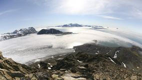 Αρκτικό περιβάλλον - παγετώνες, θάλασσα, βουνά απόθεμα βίντεο