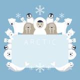 Αρκτικό πλαίσιο, ζώα, άνθρωποι ελεύθερη απεικόνιση δικαιώματος