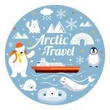 Αρκτικό ταξίδι, ετικέτα Στοκ Εικόνα