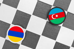 Αρμενία εναντίον του Αζερμπαϊτζάν Στοκ Φωτογραφία