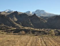 Αρμενικά βουνά στοκ εικόνα