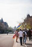 Αρμενική 100η ενθύμηση Μάρτιος γενοκτονίας στη Γαλλία Στοκ εικόνες με δικαίωμα ελεύθερης χρήσης