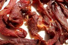 αρμενικό βόειο κρέας basturma αποκαλούμενο πιάτο ξηρό Στοκ Εικόνα