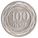 100 αρμενικό νόμισμα δολαρίων Στοκ Εικόνες