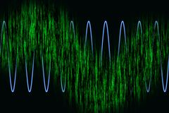 αρμονικά κύματα διαγραμμάτων διανυσματική απεικόνιση