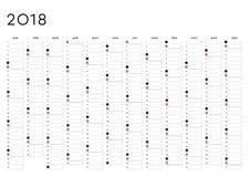 Αρμόδιος για το σχεδιασμό 2018 αγγλικά έτους στοκ εικόνες