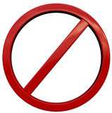 αρνηθείτε το σημάδι Στοκ φωτογραφίες με δικαίωμα ελεύθερης χρήσης