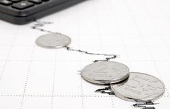 Αρνητικές οικονομικές προβλέψεις Στοκ φωτογραφίες με δικαίωμα ελεύθερης χρήσης