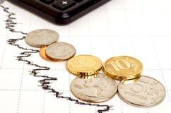 Αρνητικές οικονομικές τάσεις Στοκ φωτογραφίες με δικαίωμα ελεύθερης χρήσης