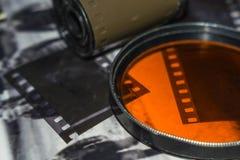 αρνητικός παλαιός ταινιών στοκ εικόνα με δικαίωμα ελεύθερης χρήσης