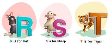 Αρουραίος, πρόβατα και Τουρκία με Alphabate Στοκ φωτογραφία με δικαίωμα ελεύθερης χρήσης
