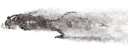 Αρπακτικό ζώο Steampunk Παλαιό αυτόματο αυτοκίνητο ανταλλακτικών στοκ εικόνες με δικαίωμα ελεύθερης χρήσης