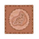 Αρπακτικό woodcarving διάνυσμα θέματος κυνηγιού και αλιείας ψαριών σολομών Στοκ Φωτογραφία