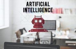Αρρενωπή έννοια ρομποτικής Cyborg AI ρομπότ Στοκ φωτογραφία με δικαίωμα ελεύθερης χρήσης