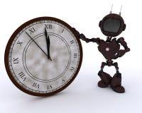 Αρρενωπός με το ρολόι πριν από τα μεσάνυχτα διανυσματική απεικόνιση