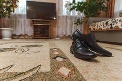 Αρσενικά γαμήλια παπούτσια Στοκ εικόνα με δικαίωμα ελεύθερης χρήσης