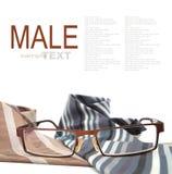 Αρσενικά γυαλιά με τις γραβάτες Στοκ εικόνες με δικαίωμα ελεύθερης χρήσης